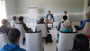 during qigong class